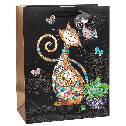 Bug Art Collection Happy Cat Large Gift Bag